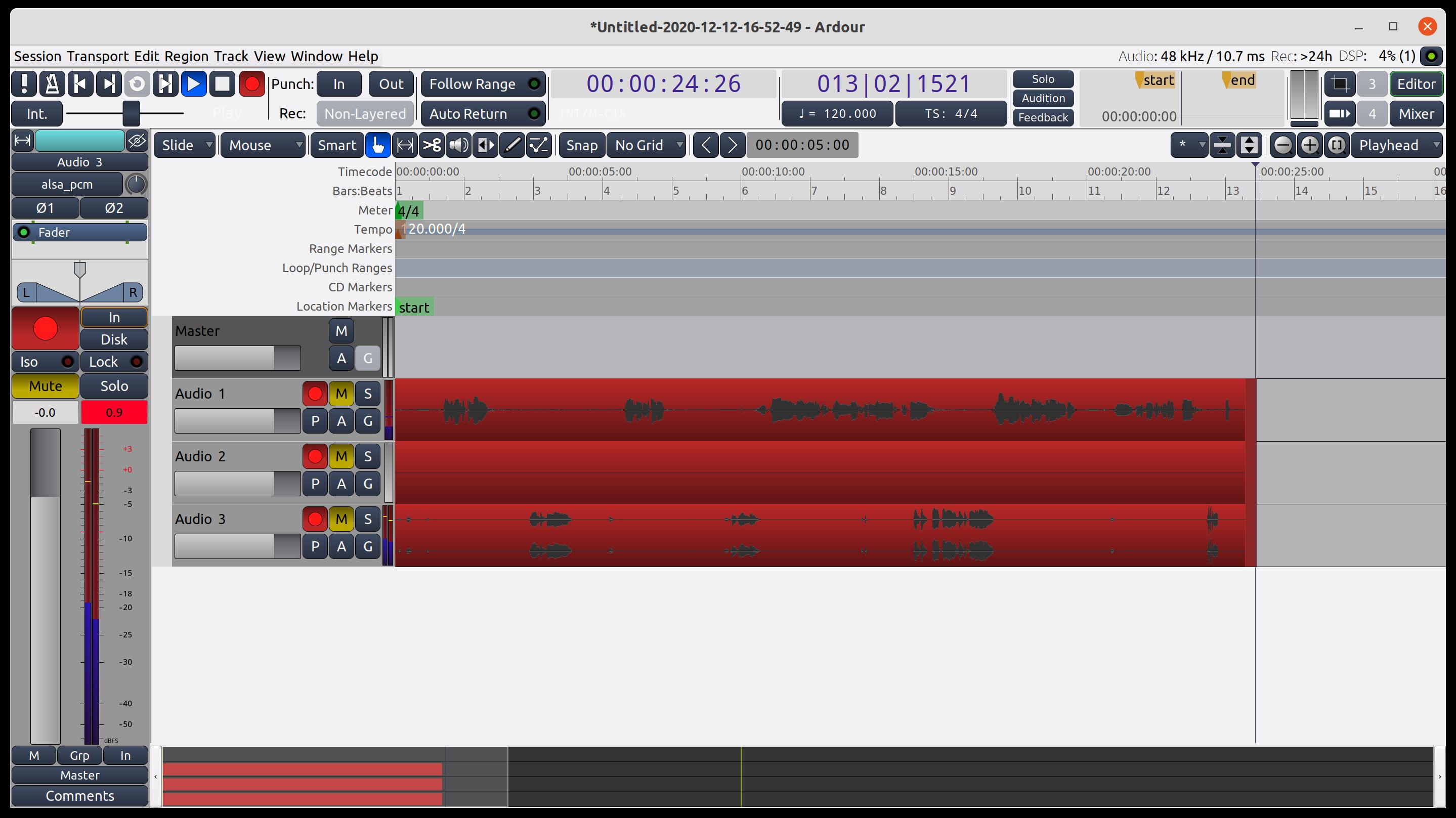 Ardour-Recording