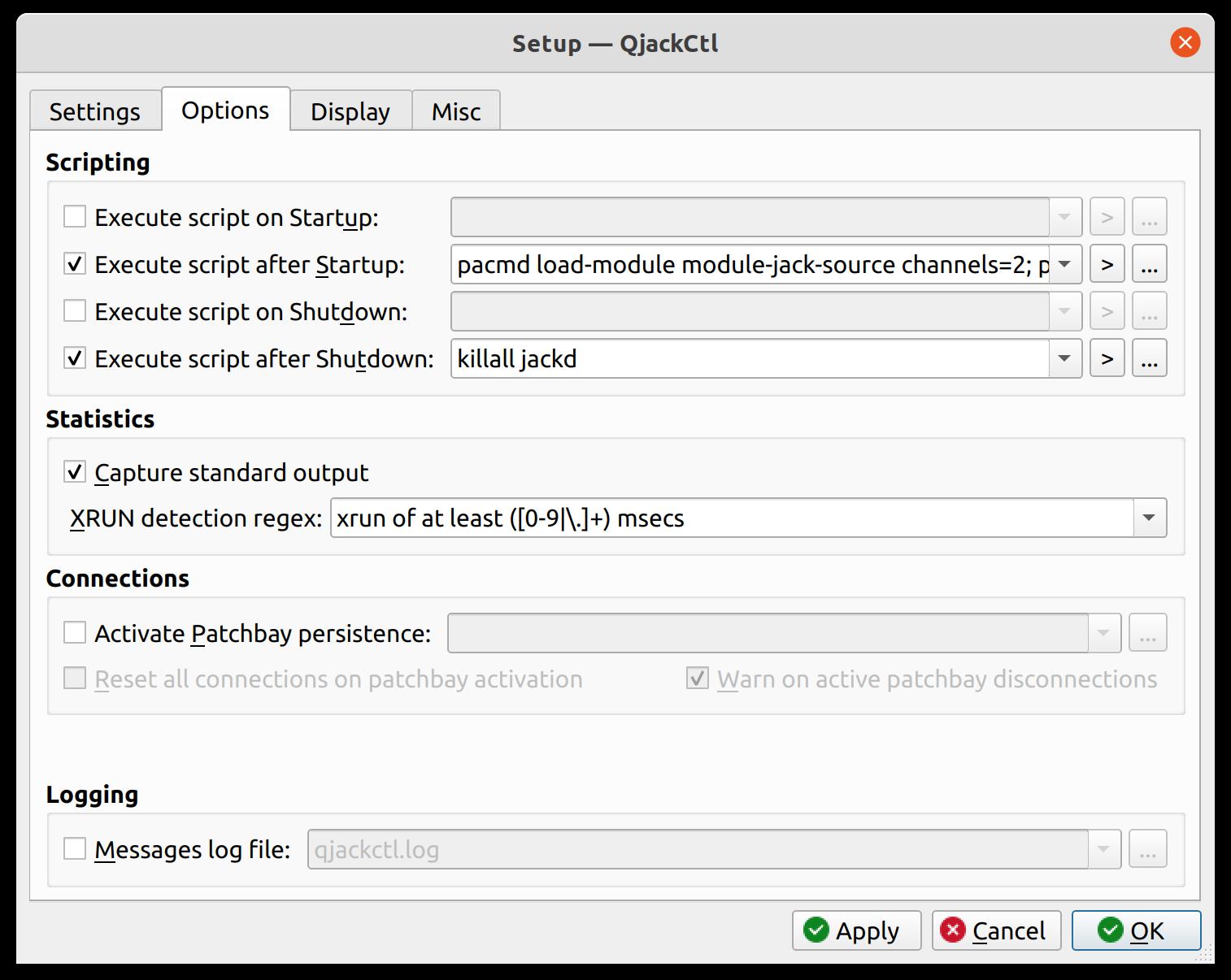 QjackCtl-Setup-Options